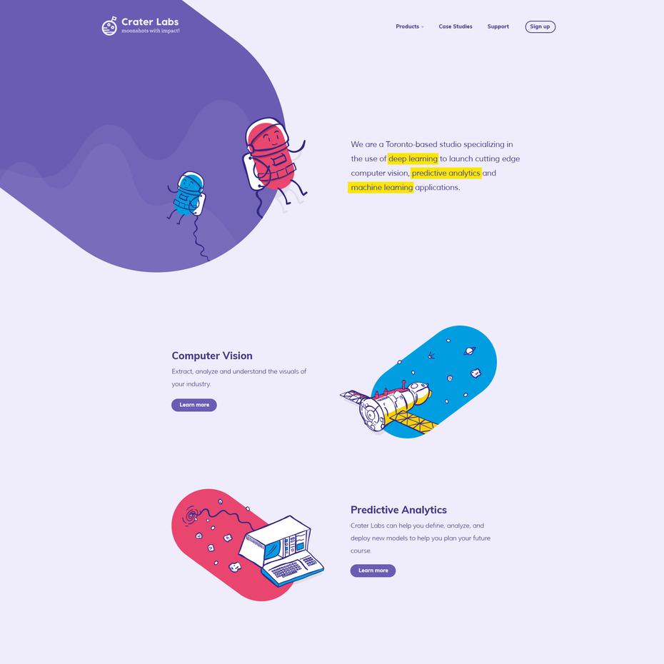 Thiết kế web 2018: Hiệu ứng minh họa illustrations