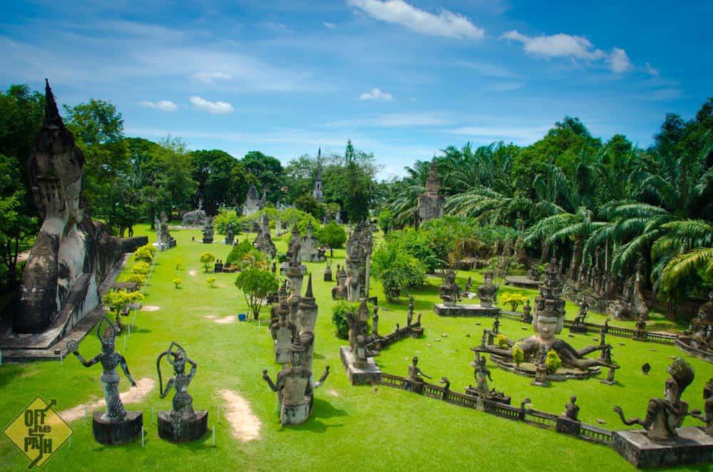 Toàn cảnh Vườn Tượng Phật.