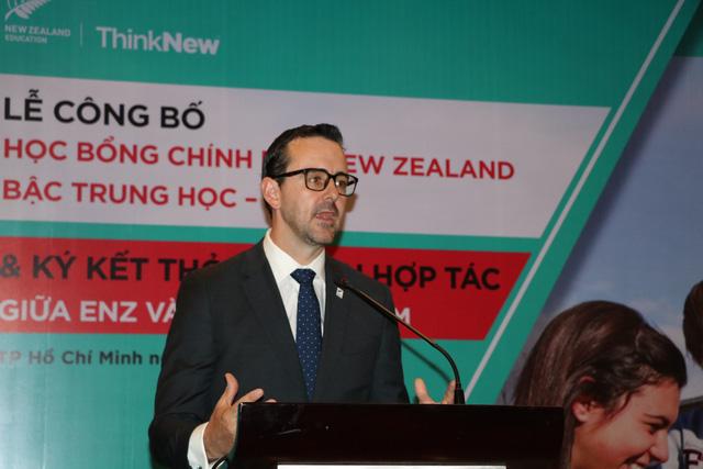 Cơ quan Giáo dục New Zealand (ENZ) tổ chức buổi họp công bố học bổng Chính phủ bậc trung học (NZSS) đầu tiên cho học sinh Việt Nam.