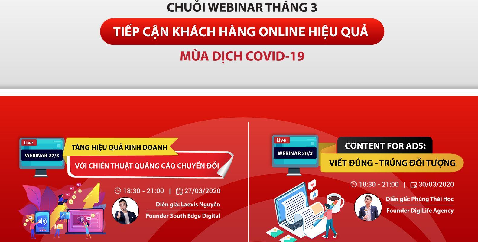 Chuỗi webinar tháng 3 - kinh doanh online màu Covid 19