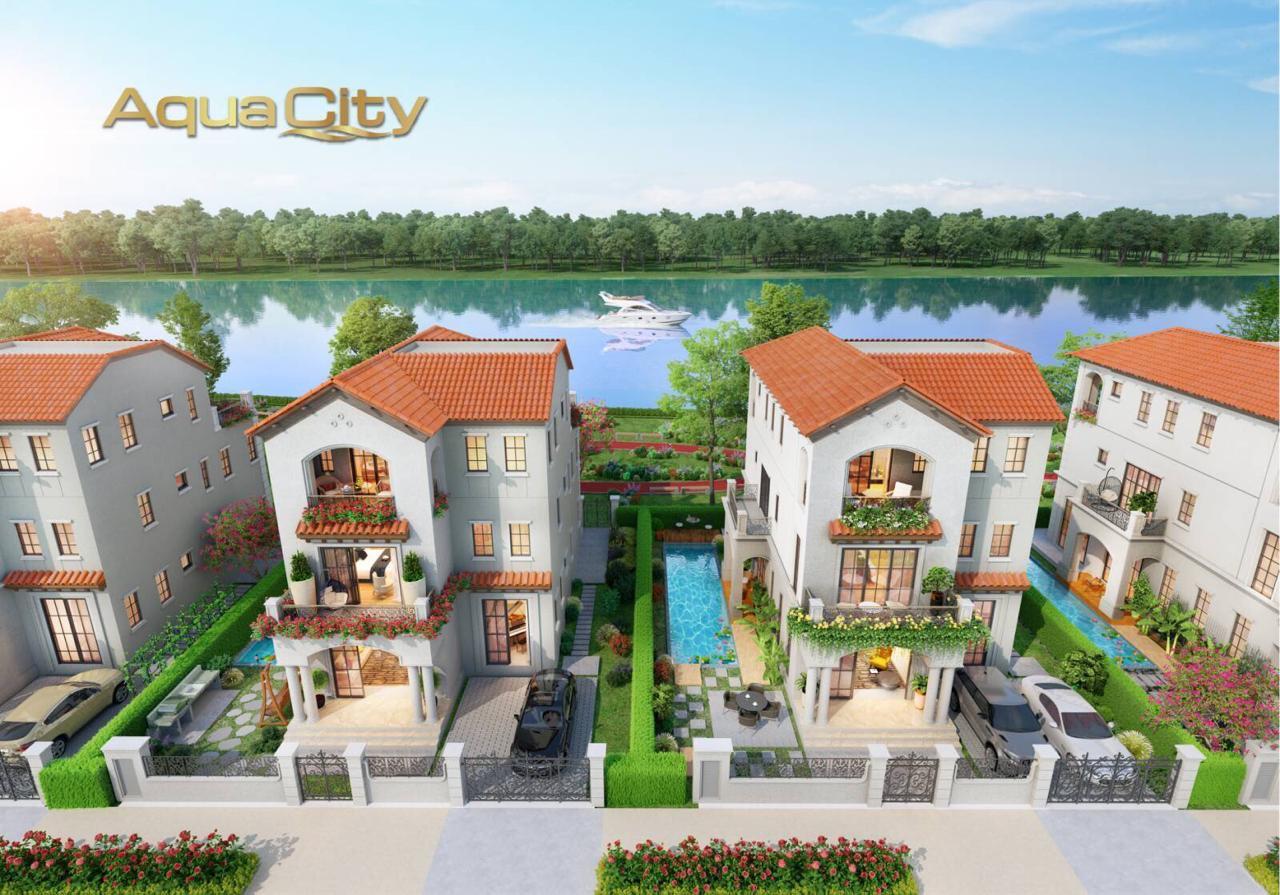 Biệt thự Aqua city từ trên cao
