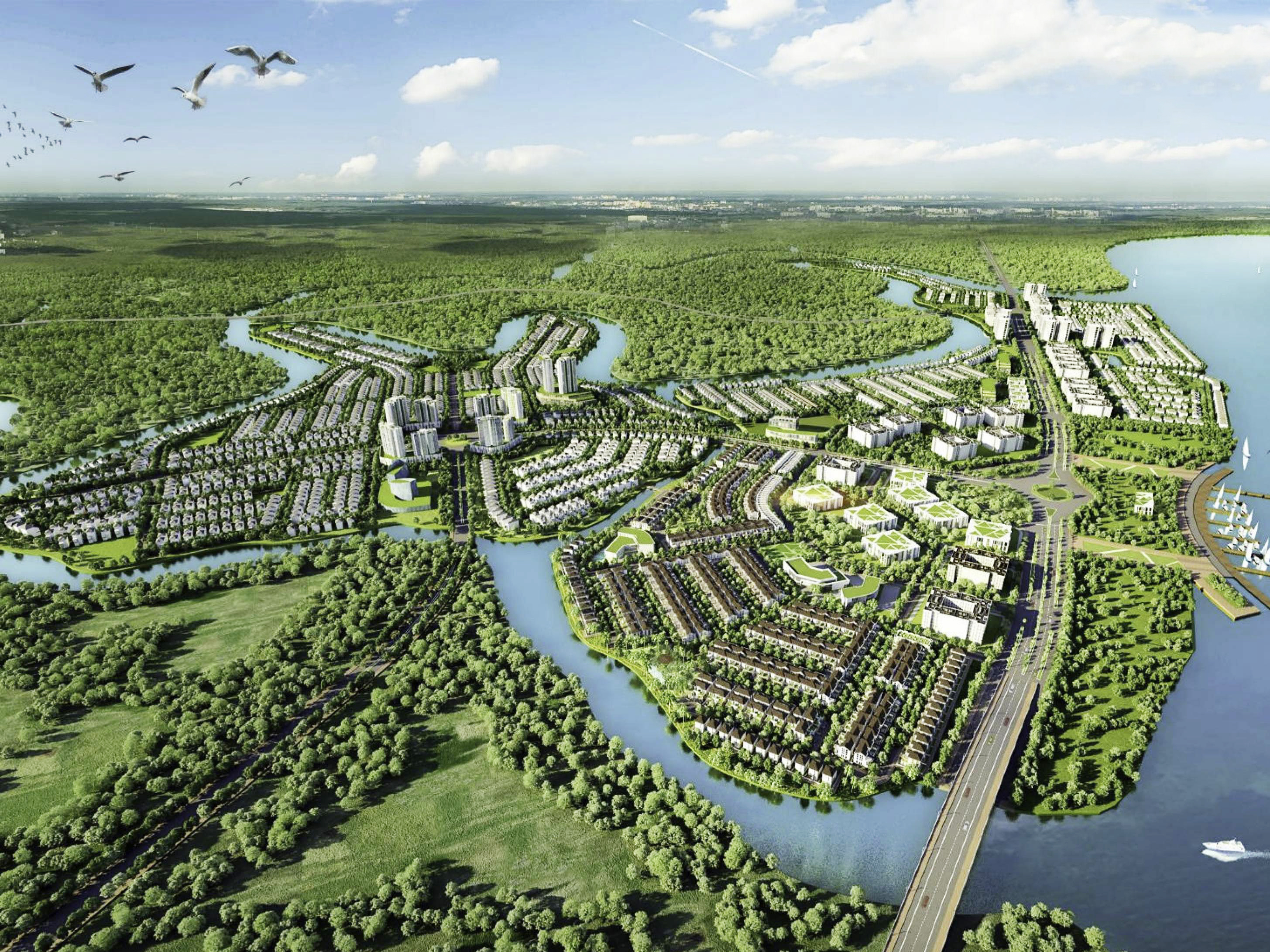nhà mẫu aqua city quy hoạch